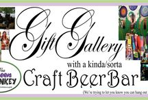 A Kinda/Sorta Craft Beer Bar / The Green Monkey is a gift gallery with a kinda/sorta craft beer. It doesn't look like a typical bar. Thankfully, neither do the prices of our more than 35 single craft beers in bottles and cans served daily. (No draft available. Perhaps in the future.) Whether you are looking for a special something from a local artist and designer or just a place to have a great beer while you stare at your phone, The Green Monkey is the place you want to be. FREE Wifi.