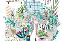 Цветочные иллюстрации