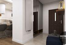 Nowoczesne mieszkanie w Krakowie 2 / Projekt nowoczesnego mieszkania w Krakowie. Ciemniejsze kolory połączone z bielą i beżami idealnie się ze sobą komponują.  Po więcej inspiracji zapraszamy na Naszą stronę internetową:biuro@monostudio.pl oraz na Facebooka