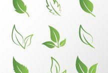 Tattoo leafs & lines