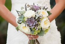 White and purple winter wedding