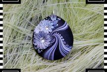colgante lila flores