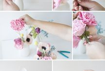 Flores en paño lence