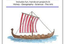 Unit 2-4: Vikings, Norway, Special Effects (weather), Viking Art / Teaching kids about Vikings, Norway, Special Effects of Weather, and Viking Art in a Layers of Learning homeschool.