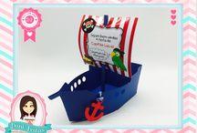Festa Pirata / Festas Criativas e Personalizadas você encontra aqui. Procurando fofuras para a sua festa? Na nossa loja tem! http://danifestas.com.br/