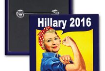 Hillary Clinton 2016 / In case you haven't heard Hillary Clinton is running for President. Check us out for bumper stickers, buttons and more! #Hillary2016 #ImWithHer
