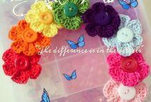 Apliques em crochê / Flores, lacinhos, borboletas...