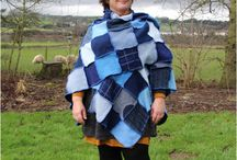 Upcycled Woolly Wraps, Ruanas & Shawls from Recycled Knitwear