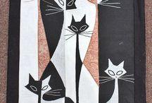 Kočky v patchworku / patchwork