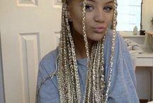 white gal braids