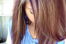 reddish purple hair