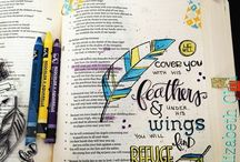 Bible journaling... / My new ambition for this year is to get to know my bible a little better....