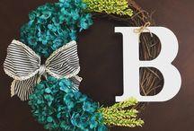 Monogrammed wreaths / custom wreaths