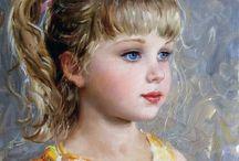 Konstantin Razumov / Art by the Russian artist, Konstantin Razumov - love his use of colour and the definition in his portraits.