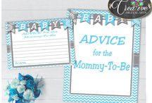 Baby Shower Games In Chevron Blue, Invitations, Decorations and more... / Hi, thank you for visiting this beautiful baby shower board with chevron blue theme. Here you can find a lot of baby shower decorations and activities with over 40 listings in this theme.