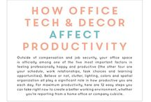 Tips when choosing office furniture and design / Information, statistics and helpful tips on office colours, monitors, storage, plants and efficiency.