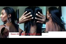 Natural Hair Growth Styles & Tips / How to grow or regrow black short thinning damage balding hair longer and thicker. Plus natural hair styles.