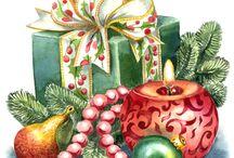 рождество мотивы игрушки венки  Christmas motifs toy wreaths