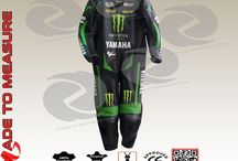 Custom made one piece yamaha monster tech 3 leather suit
