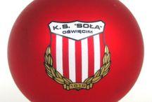 Bombka K.S. Soła Oświęcim / Bombka z logo klubu sportowego z Oświęcimia.