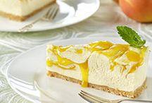 Mango cheesecakes