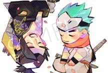 Genji/Hanzo / Please support these talented artists~  ☆All photos contain sauce☆