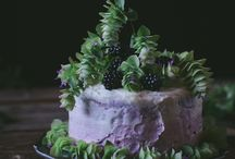 Oregano Honey Cake With Blackberry Buttercream