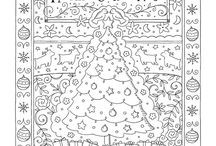 Holiday coloring book