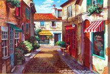 Imagens - Cidade / Pintura, ilustração e arte decorativa