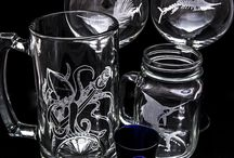 Laser Engraved Glassware-Engrave Colorado / Glass engraves beautifully and here is some of the numerous glass engravings that we do!