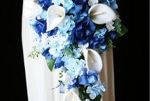 blue wedding bouquet