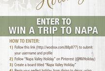 Napa Valley Holiday / Hoping to win this contest! / by Susan Brooks