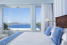 Room with a view at Elounda Gulf Villas & Suites / All Elounda Gulf Villas & Suites offer stunning views over the azure waters of the Gulf of Mirabello! Come to your own private retreat and soak up the most sublime Mediterranean views on offer. http://goo.gl/mfLP9A