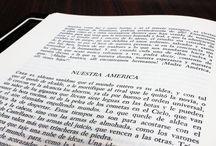 #EscritosBAyacucho / Textos, poemas, citas, de la Biblioteca Ayacucho, fotografiados directamente de los libros