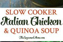 Italian chicken and quinola soup