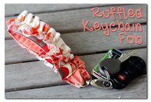 Ruffled keychain Fob siipp..:)