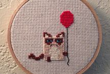 cats embroidery