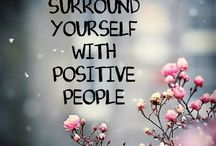 positive sayings pink grey