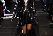 Leather fashion and other shiny clothes