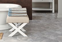 LVT - Luxury Vinyl Tile / The many looks of LVT. From wood to stone to slate. Super durable, easy to install.  www.cherrycityid.com