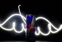 """Advertising: Red Bull / Red Bull Energy Drink closely ties the category benefit of """"energy"""" to a recognizable brand that is associated with high energy, high risk activities. / by Sue (Wiedmann) Northey"""