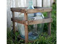 DemiJohn Wine Bottle & Crate / by Christine @ Little Brags Blog