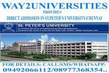 Way2Universities / Admission Guidance fo Top Colleges of Andha Pradesh, Tamilnadu, Karnataka, Maharashtra & Delhi / NCR for Engineering, Medicine, Technology & Management Courses etc.