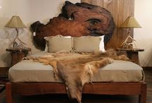 Rustic Beds / Rustic beds are built from live edge burl wood slabs and  logs. We use redwood, walnut, maple, and twisted juniper   Littlebranch Farm
