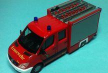 Feuerwehr bomberos alemanes 1/87 / Varios vehículos de bomberos alemanes de múltiples ciudades