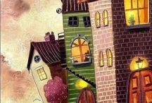 casas y paisajes