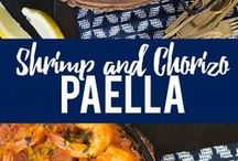 shrimps paella