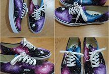 Galaxy design canvas shoes