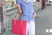 White jeans / white jeans outfits / by Joann Nanfito