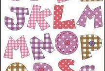 letras tecido